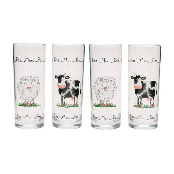 Sada 4 pohárov Home Farm, 350 ml
