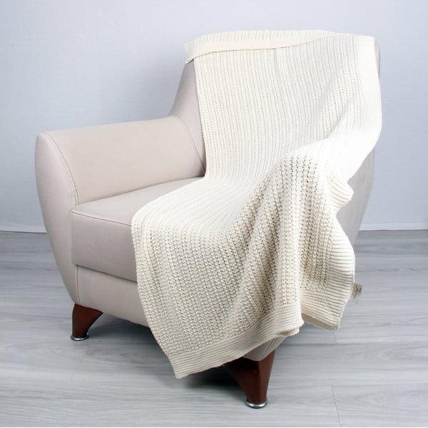 Svetlobéžová bavlnená deka Homemania Clen, 170 x 130 cm