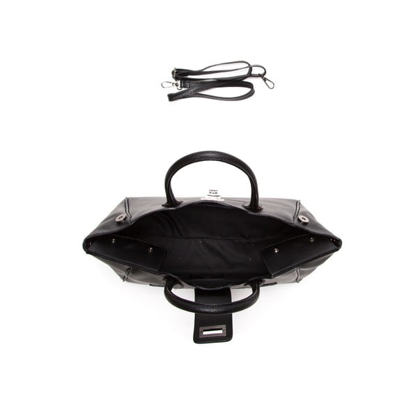 Čierna kožená kabelka Elisa