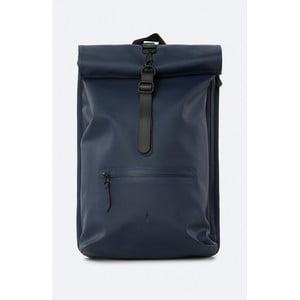 Tmavomodrý rolovací batoh s vysokou vodoodolnosťou Rains Rucksack