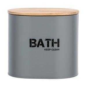 Sivý kúpeľňový box s vekom Wenko Gara