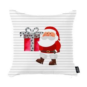Biela vianočná obliečka na vankúš Apolena Honey Christmas Santa Claus, 45 x 45 cm