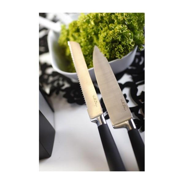 Stojan s nožmi, hranatý, biely