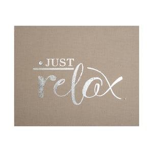 Zdobený látkový obraz Graham&Brown Relax, 50×40cm