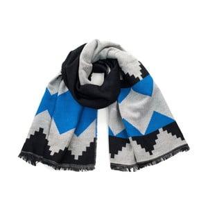 Modrý vzorovaný šál Avril