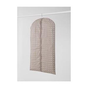Malý béžový závesný obal na šaty Compactor Dots, 100 cm