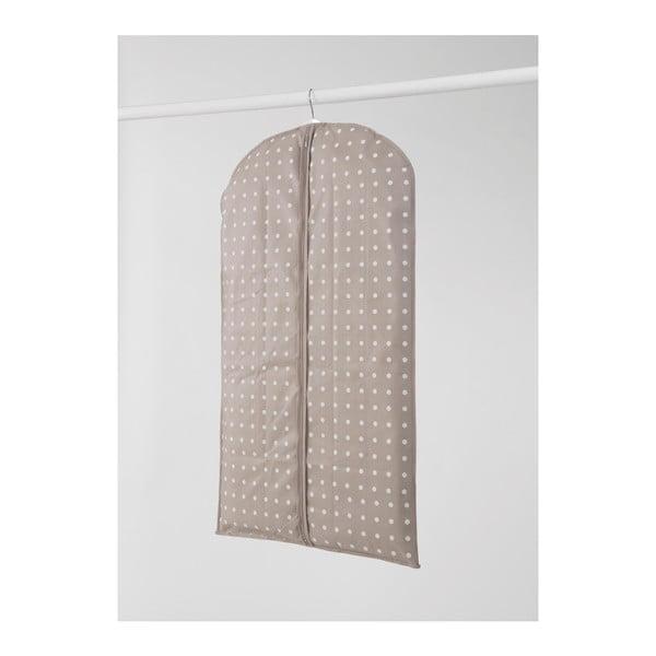 Béžový obal na šaty Compactor Dots, 100 cm