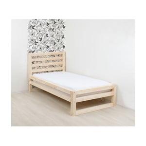 Drevená jednolôžková posteľ Benlemi DeLuxe Natura, 200 × 80 cm