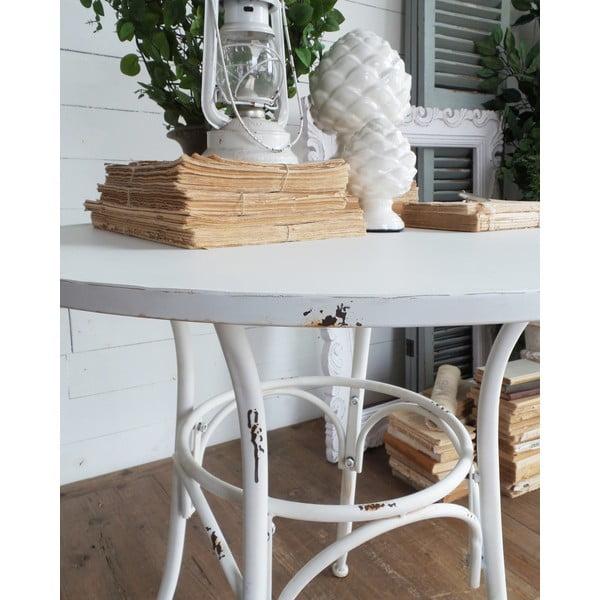 Kovový stolík Oldie White