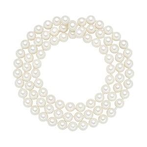 Perlový náhrdelník Muschel, biele perly 8 mm, dĺžka 80 cm