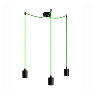 Tri závesné káble Cero, zelená/čierna