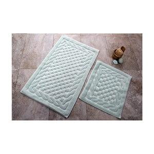 Sada 2 kúpeľňových predložiek zo 100% bavlny Bambi Mint