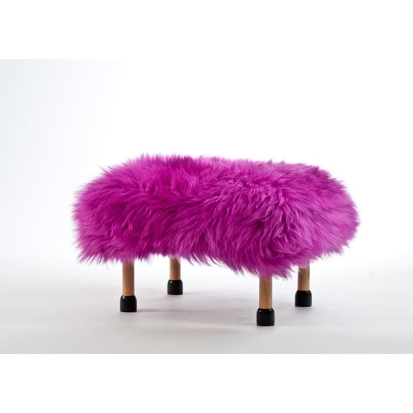 Stolička z ovčej kože Nia Cerise
