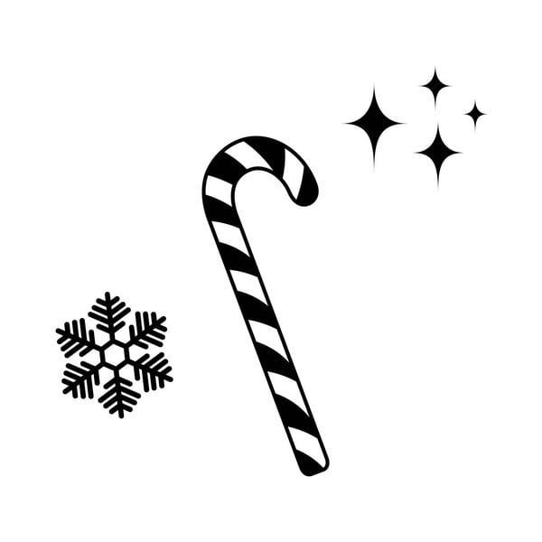 Vianočná samolepka no. 2, 45x27 cm