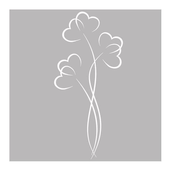 Samolepka Ambiance Flowers And Hearts