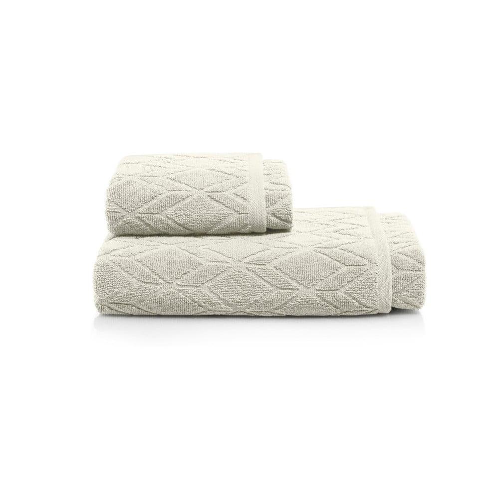 Set sivobéžovej osušky a uteráky Maison Carezza Venezia