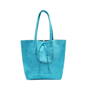 Tyrkysová kabelka z pravej kože Andrea Cardone Larrito