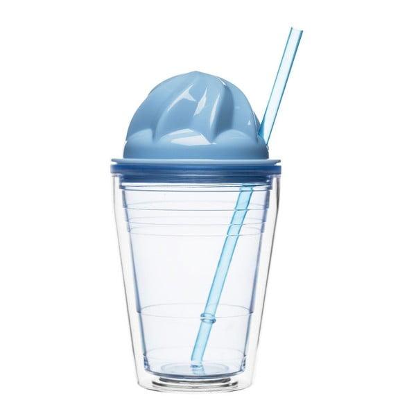 Hrnček na mliečne koktaily Sagaform, modrý