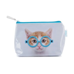 Malá kozmetická taštička Glasses Cat