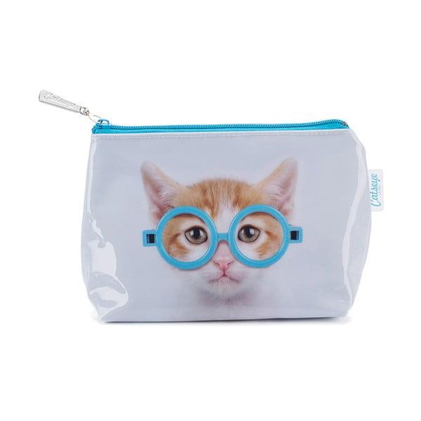 Malá kozmetická taška Glasses Cat