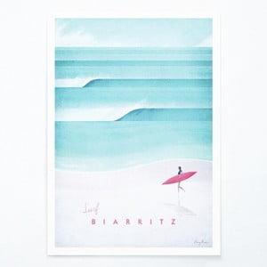 Plagát Travelposter Biarritz, A3