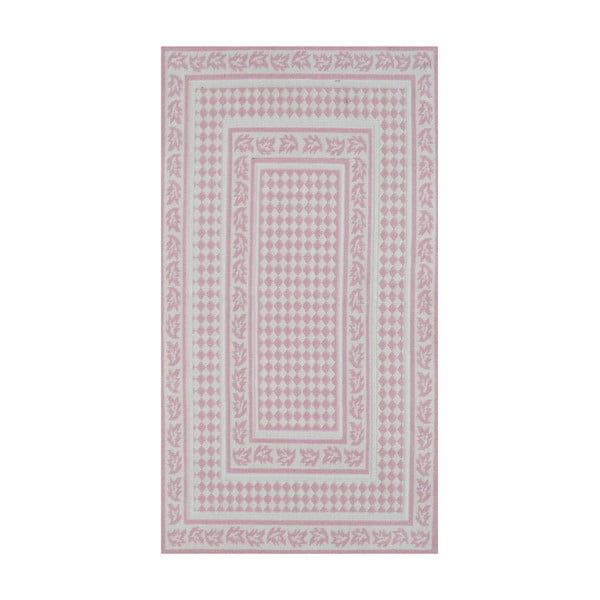 Pudrovoružový odolný koberec Vitaus Olivia, 100x150cm