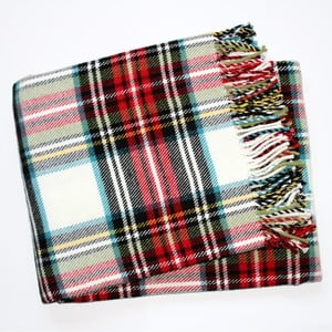 Deka Scott Plaid White, 140x180 cm