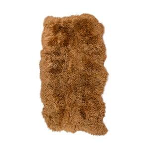 Hnedý kožušinový koberec s dlhým vlasom Hanna, 180 x 120 cm