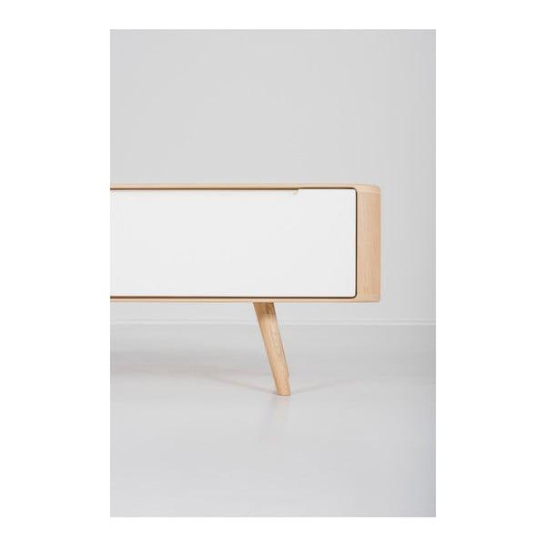 Televízny stolík z dubového dreva Gazzda Ena, 225×42×45 cm