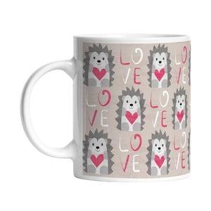 Keramický hrnček Hedgehog in Love, 330 ml