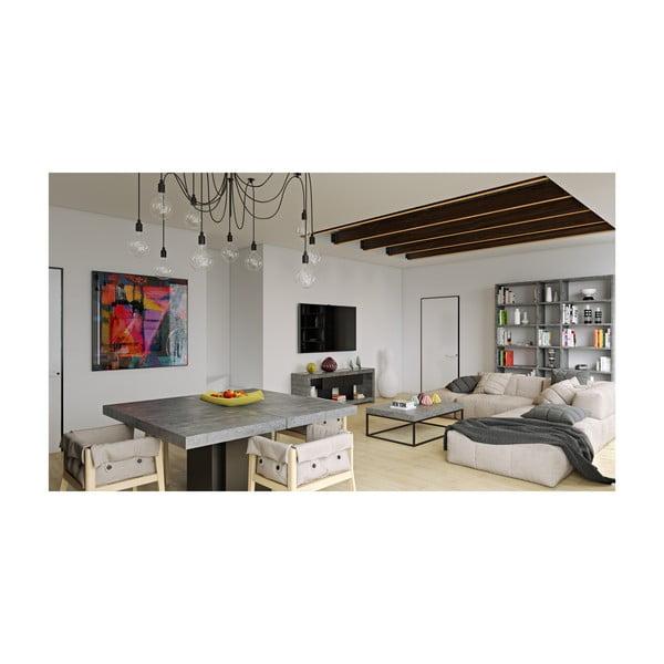 Jedálenský stôl s dekorom betónu TemaHome Dusk, 130cm