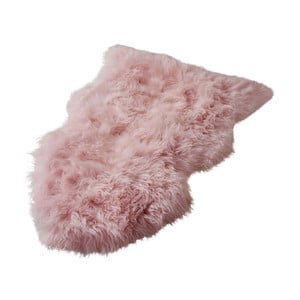 Ružový koberec z novozélandskej ovčej kožušiny Native Sheep