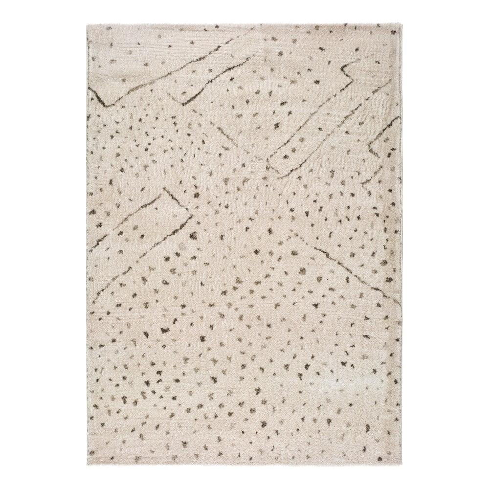Krémovobiely koberec Universal Moana Dots, 135 x 190 cm