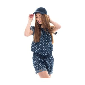 Modrý bavlnený overal Lull Loungewear Overy Blum, veľ.M