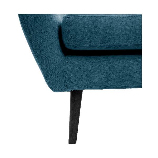 Námornícke modré kreslo VIVONITA Kelly, čierne nohy