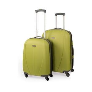 Sada 2 kufrov Tempo, zelená