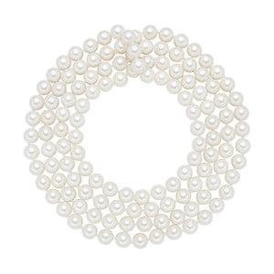 Perlový náhrdelník Muschel, biele perly 8 mm, dĺžka 120 cm