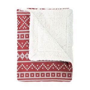 Červený pléd Home Collection Knitting, 150x200 cm