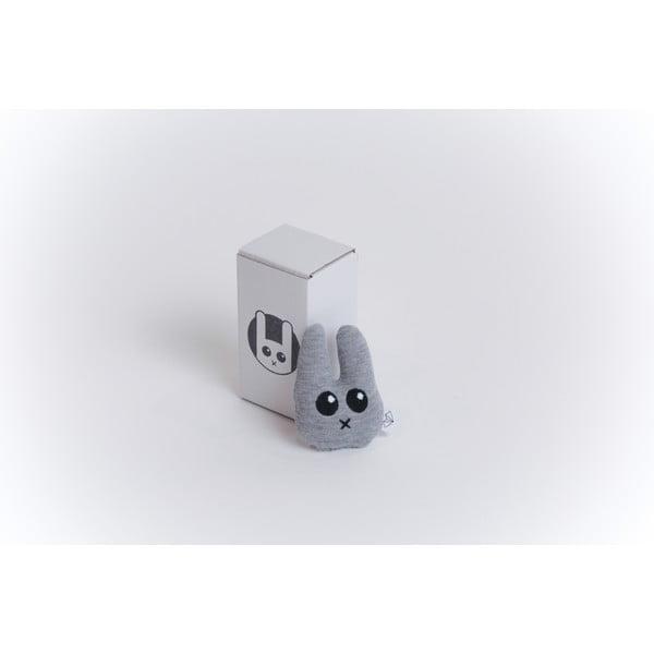 Mini plyšiak Zajac v krabičke, sivý
