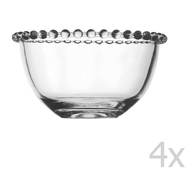 Sada 4 misiek Pearls, 13 cm
