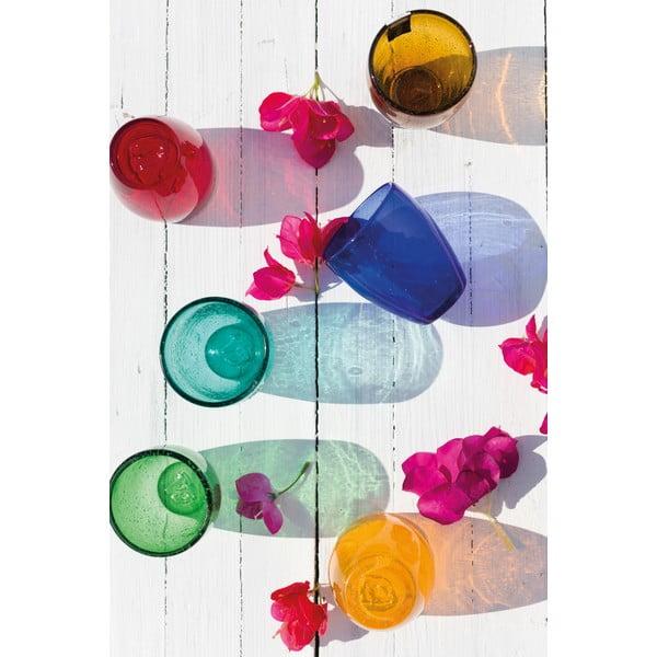 Sada 6 farebných pohárov z fúkaného skla Villa d'Este Rainbow, 280 ml