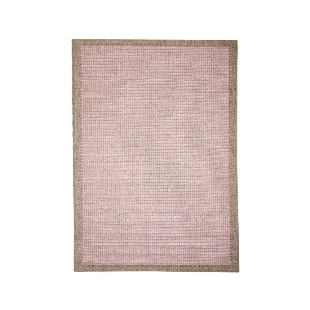 Ružový vonkajší koberec Floorita Chrome, 135 × 190 cm