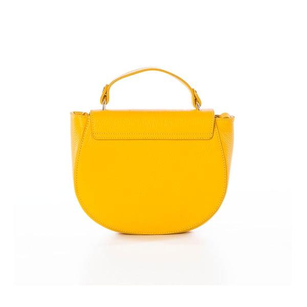 Žltá kožená kabelka Federica Bassi Virgin