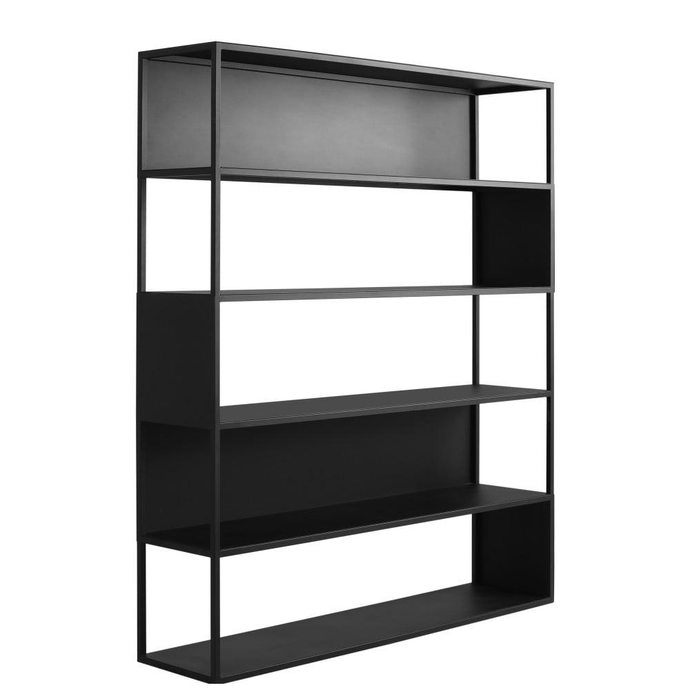 Čierna knižnica Custom Form Hyller Side, výška 180 cm