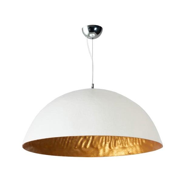 Bielo-zlaté  stropné svietidlo ETH Mezzo Tondo, ⌀ 70 cm