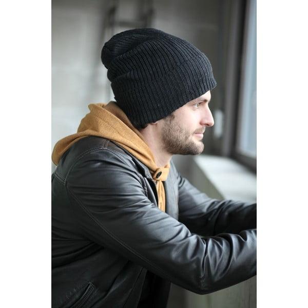 Antracitová čapica s ochrannými prvkami Ribcap Lenny, veľ. L