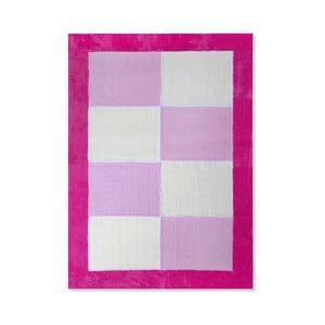 Detský koberec Mavis Pink Squares, 100x150 cm