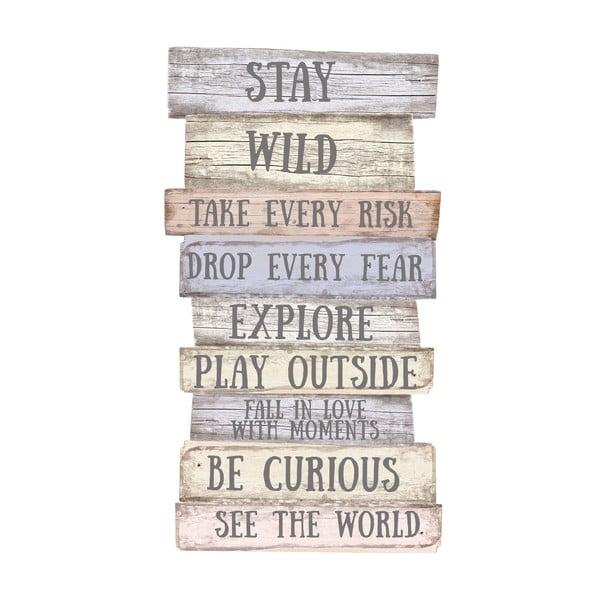 Nástenná ceduľa Wild Rules