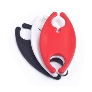 Sada 3 farebných spôn na káble v bielej, čiernej a červenej farbe Bobino Cord Wrap, L
