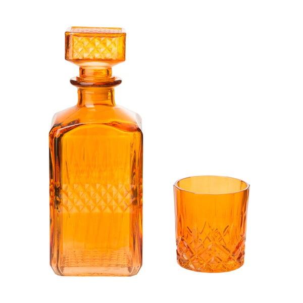 Dekantér so 6 pohármi Orange, 850 ml